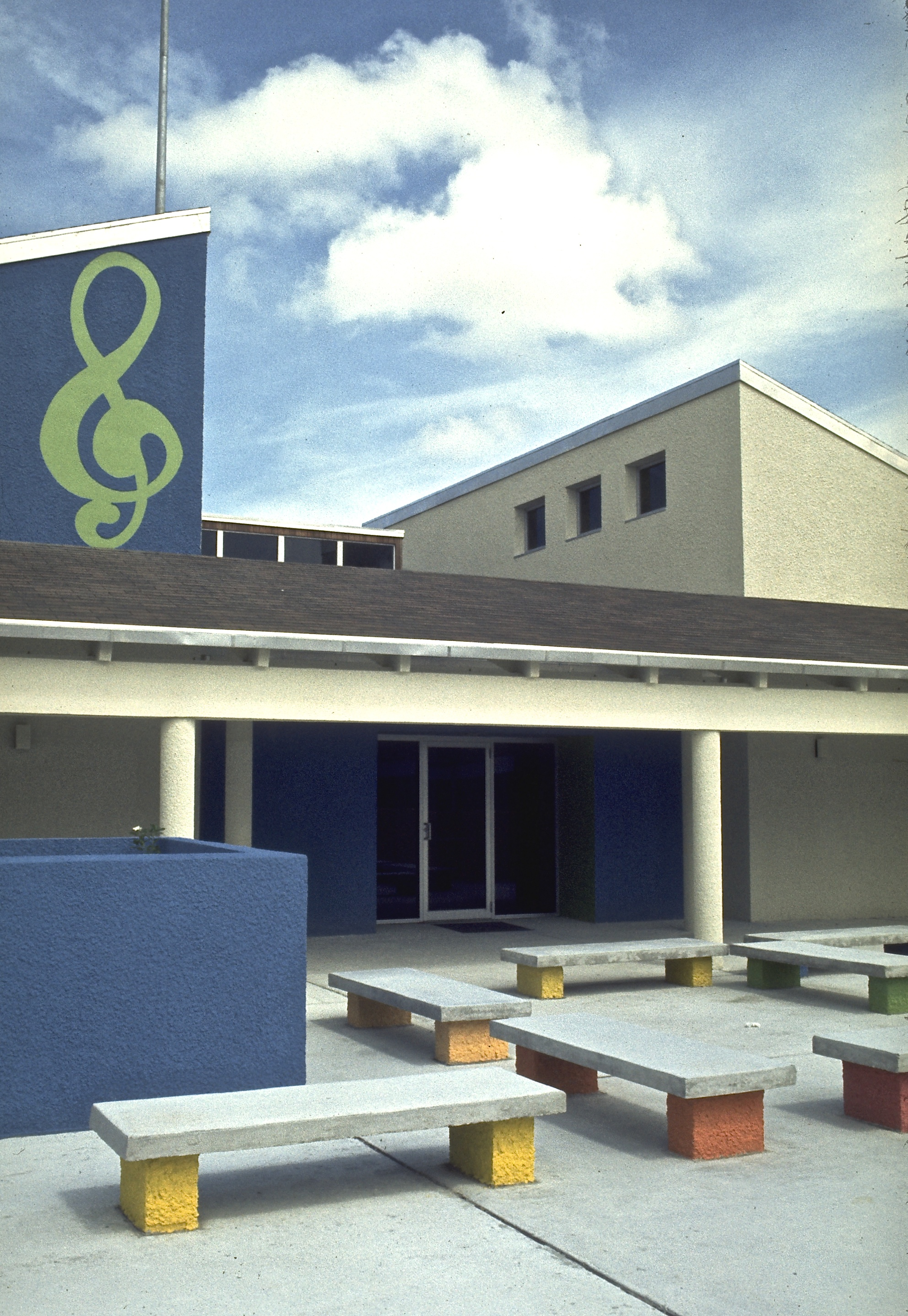 Music Building Courtyard