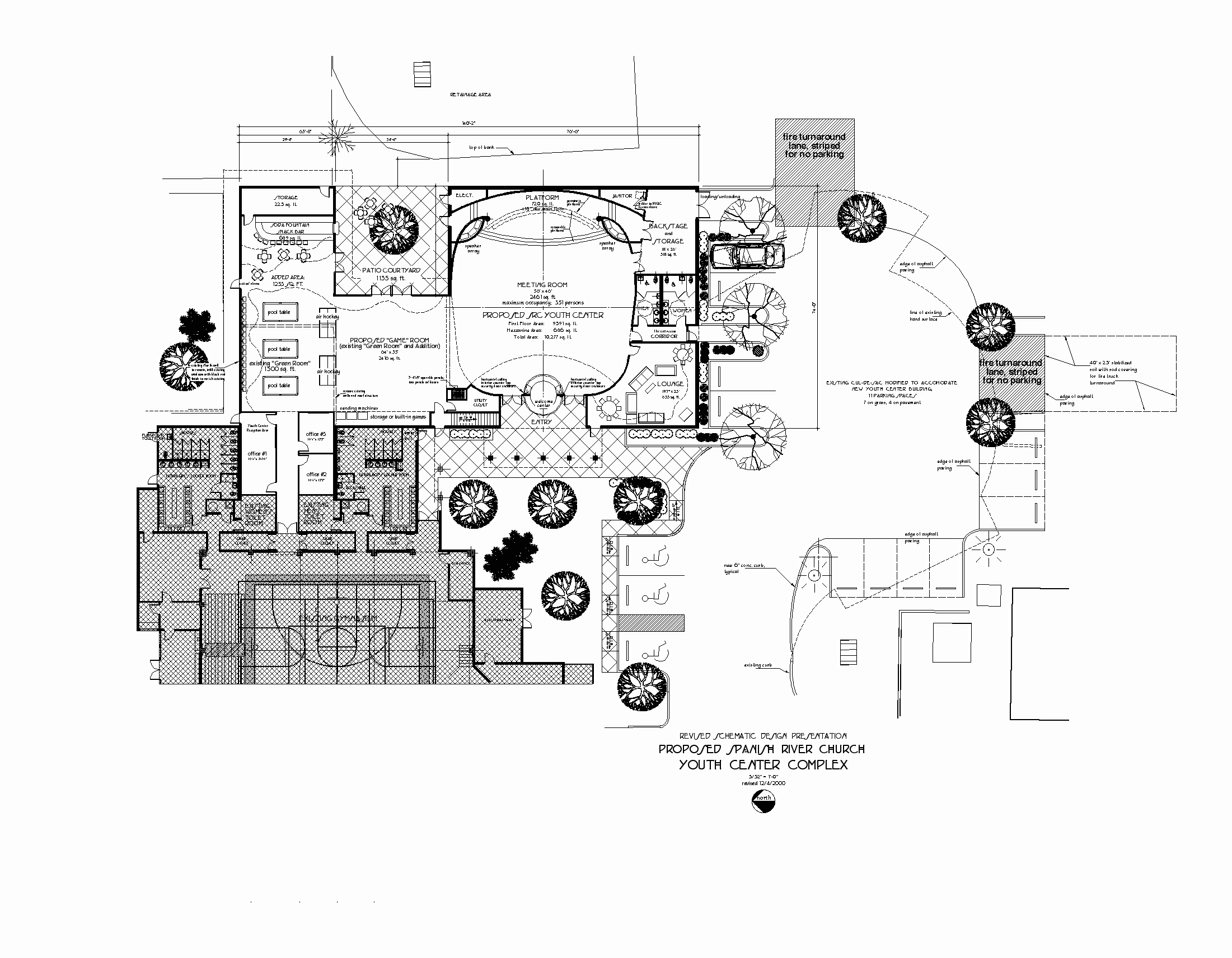 Spanish river church youth center romberger assoc architects pa floor plan jameslax Image collections