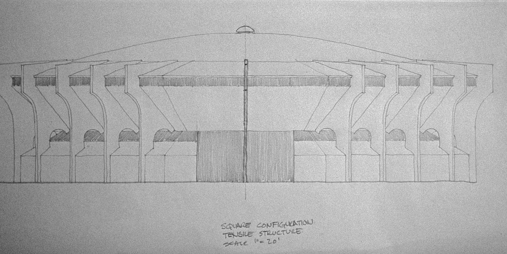 Gym Design Study Tensile Structure