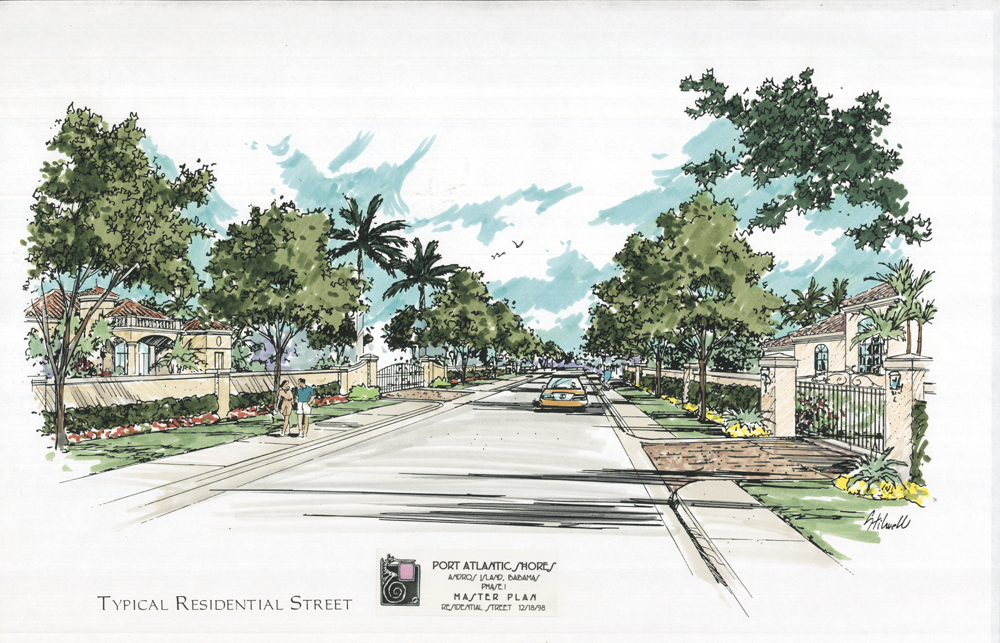 Typical Residential Street Rendering