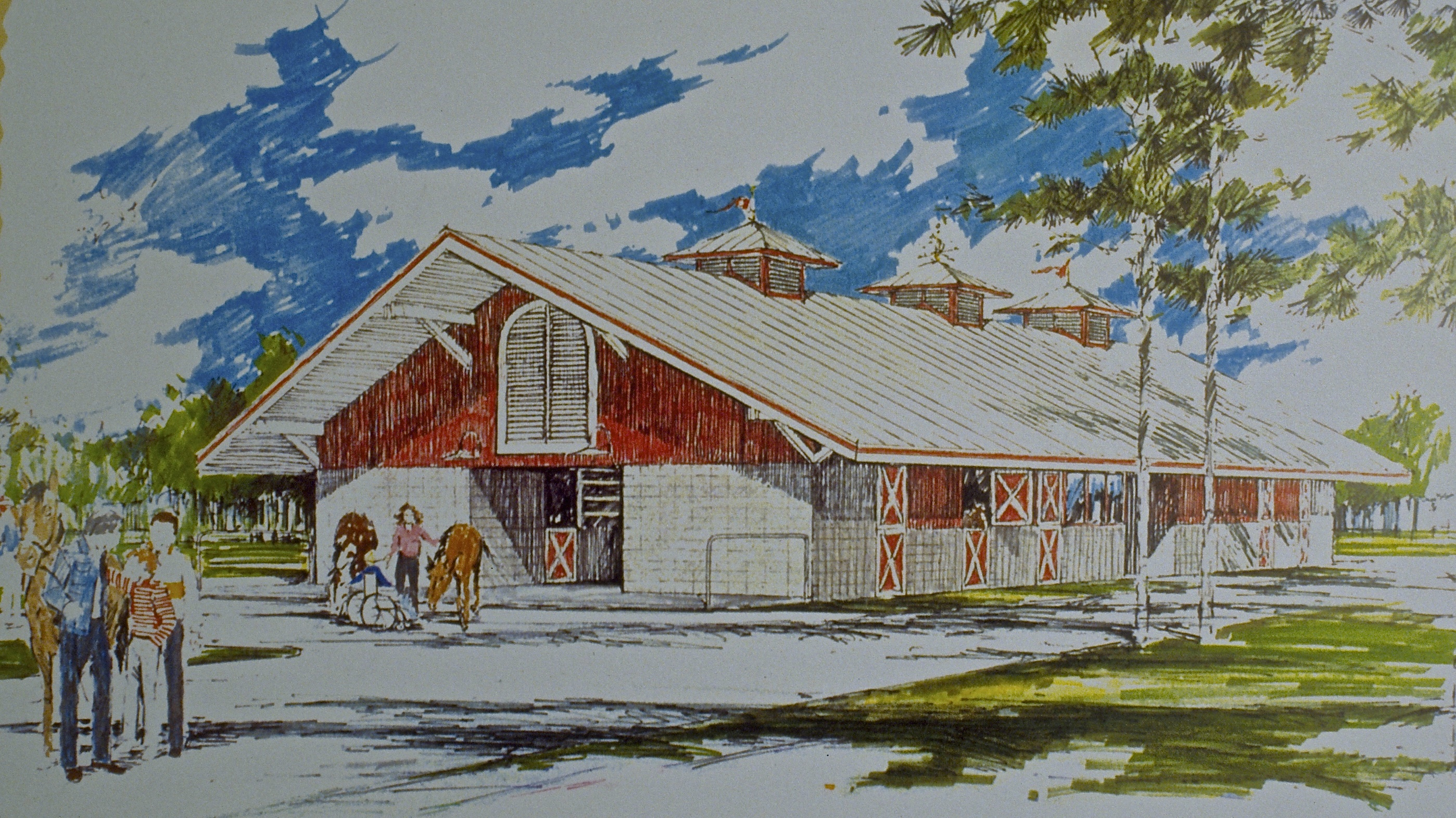 Barn for Horses and the Handicapped